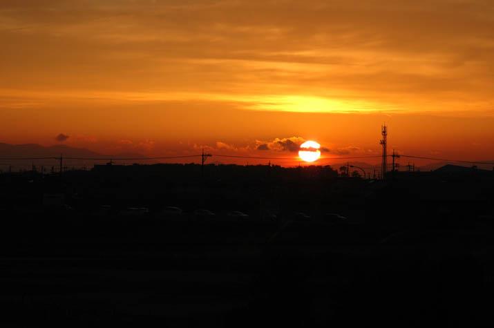 100k_055 米子の夕焼け