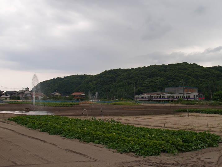 100729 噴水と山陰線列車.jpg