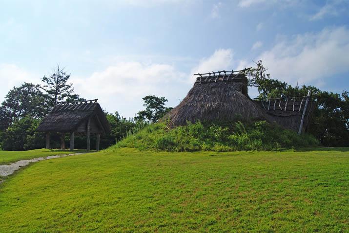110828 妻木晩田遺跡 復元された昔の住居.jpg