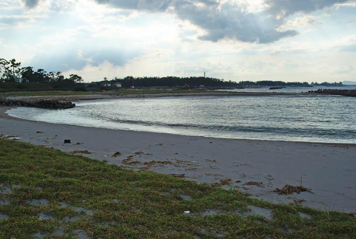 110911 ゴミがたくさん町内の砂浜.jpg