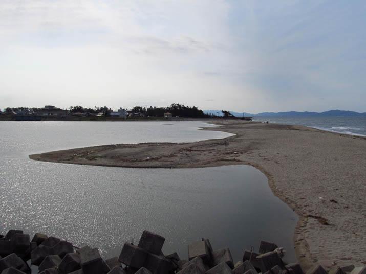 120809 日野川河口の砂州.jpg
