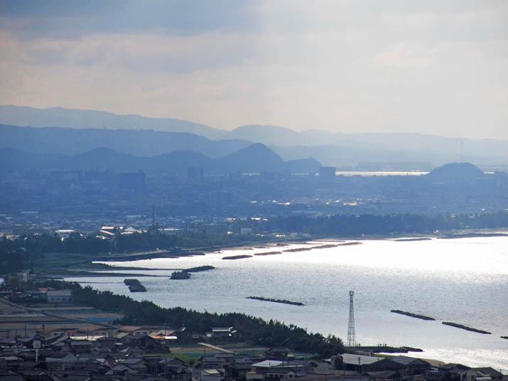120910 佐陀川河口と.米子市街地jpg