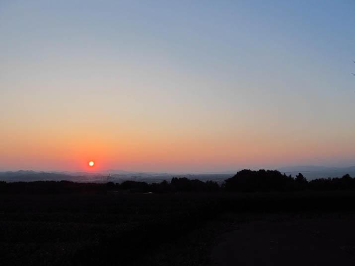 131101 米子市の日没.jpg