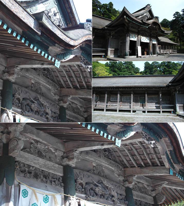 大神山神社奥宮の美しい彫り物