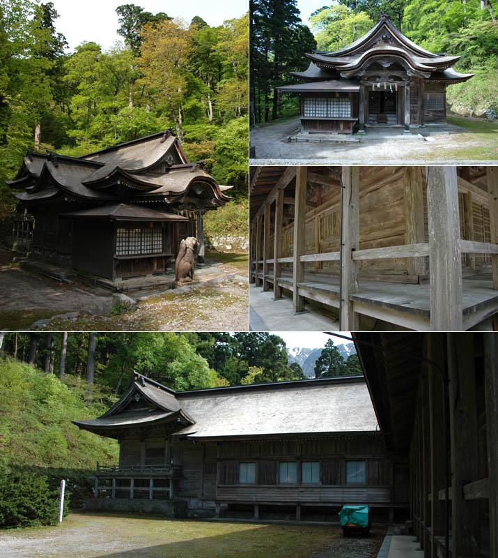 下山神社と大神山神社奥宮境内裏手